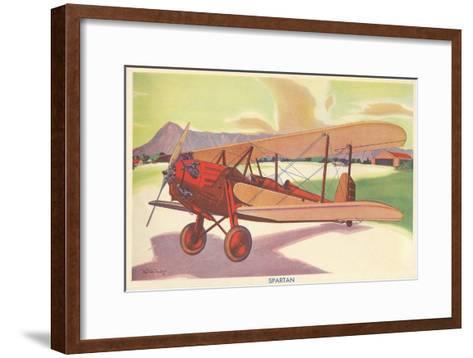 Spartan Biplane--Framed Art Print