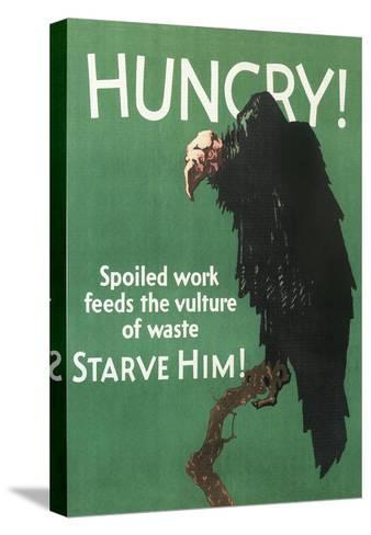 Hungry Vulture Poster--Stretched Canvas Print