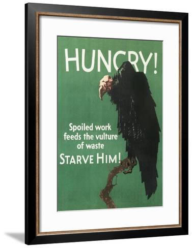 Hungry Vulture Poster--Framed Art Print