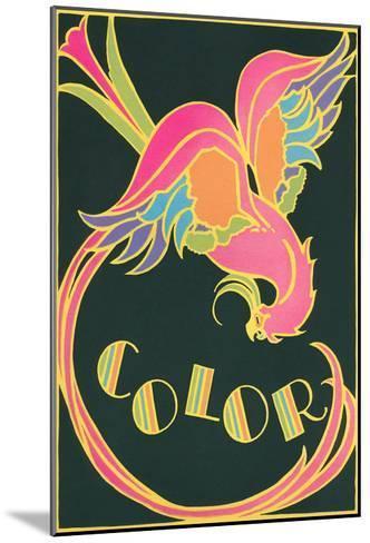 Color, Fantastic Bird--Mounted Art Print
