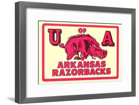 Arkansas Razorback Mascot--Framed Art Print