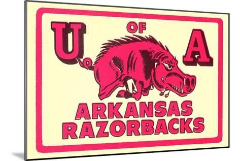 Arkansas Razorback Mascot--Mounted Art Print