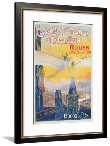Poster for French Airshow, Rouen 1910--Framed Art Print