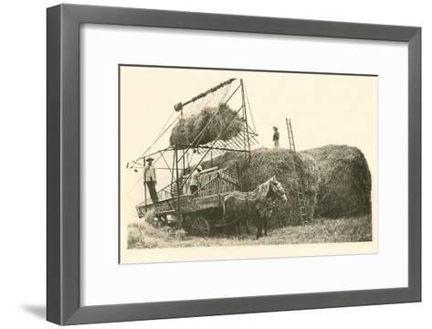 Stacking Hay--Framed Art Print