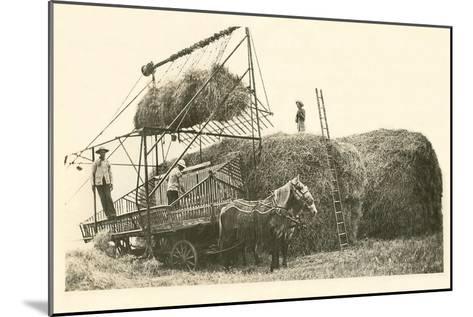Stacking Hay--Mounted Art Print