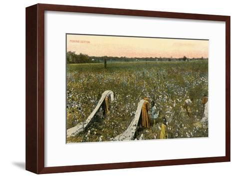Picking Cotton--Framed Art Print