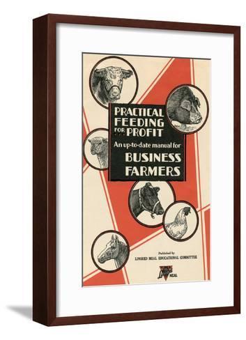 Feeding Manual for Farm Animals--Framed Art Print