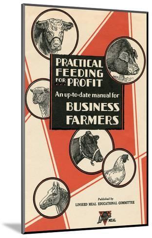 Feeding Manual for Farm Animals--Mounted Art Print