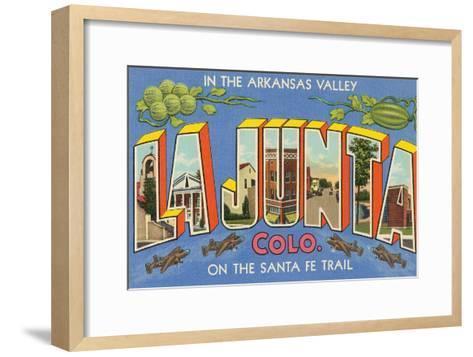 Greetings from La Junta, Colorado--Framed Art Print