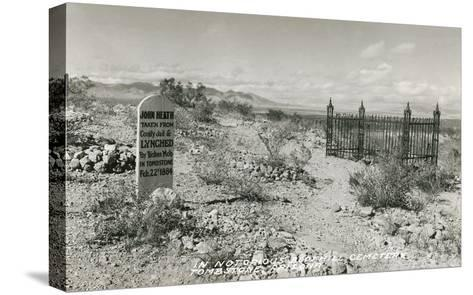Boot Hill Cemetery, Tombstone, Arizona--Stretched Canvas Print