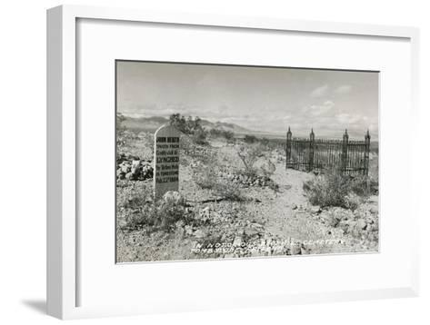 Boot Hill Cemetery, Tombstone, Arizona--Framed Art Print