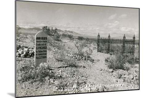 Boot Hill Cemetery, Tombstone, Arizona--Mounted Art Print