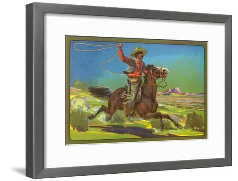 Mexican Vaquero with Lasso--Framed Art Print