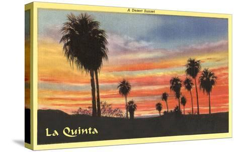 A Desert Sunset, La Quinta, California--Stretched Canvas Print