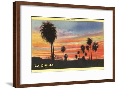 A Desert Sunset, La Quinta, California--Framed Art Print
