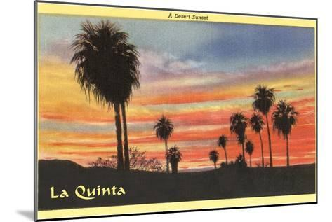A Desert Sunset, La Quinta, California--Mounted Art Print