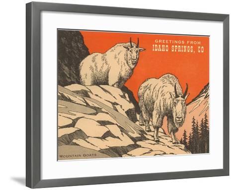 Greetings from Idaho Springs, Colorado--Framed Art Print
