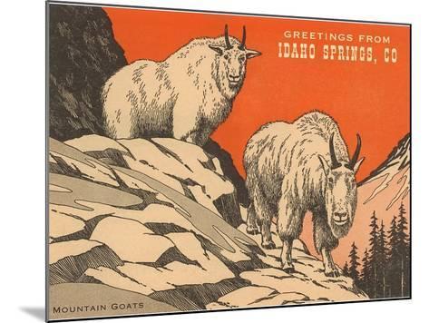 Greetings from Idaho Springs, Colorado--Mounted Art Print