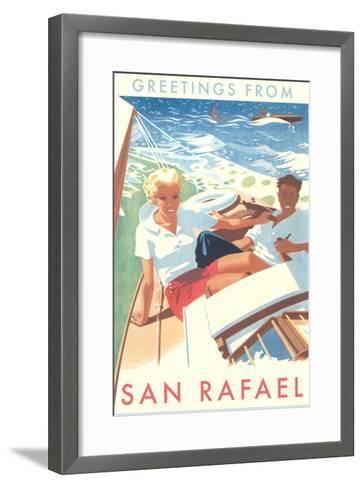 Greetings from San Rafael, California--Framed Art Print