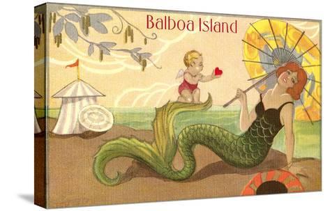Balboa Island Mermaid--Stretched Canvas Print