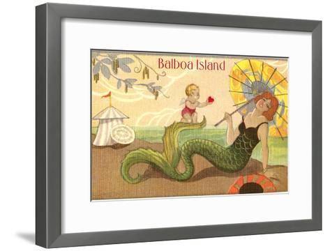 Balboa Island Mermaid--Framed Art Print
