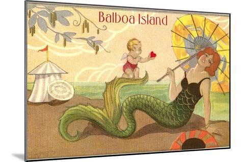 Balboa Island Mermaid--Mounted Art Print