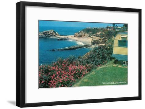 Treasure Isle, Laguna Beach, California--Framed Art Print