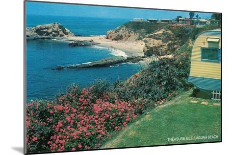Treasure Isle, Laguna Beach, California--Mounted Art Print