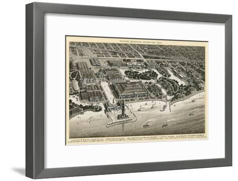 Columbian Exposition, 1893, Chicago, Illinois--Framed Art Print