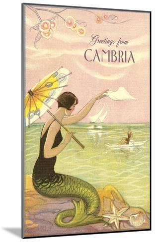 Greetings from Cambria, California--Mounted Art Print