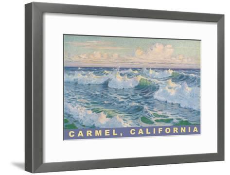Beach Waves, Carmel, California--Framed Art Print