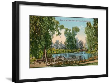 Mckinley Park, Sacramento, California--Framed Art Print