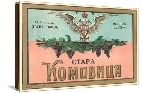 Label for Yugoslavian Wine--Stretched Canvas Print