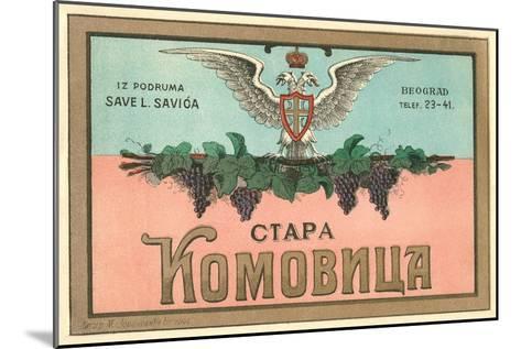 Label for Yugoslavian Wine--Mounted Art Print