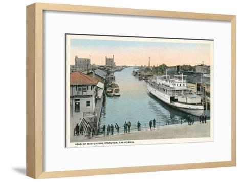 Port of Stockton, California--Framed Art Print
