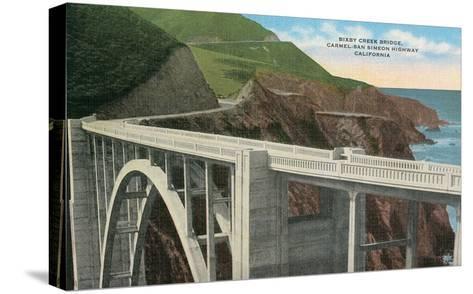 Bixby Creek Bridge, San Simeon Highway, California--Stretched Canvas Print