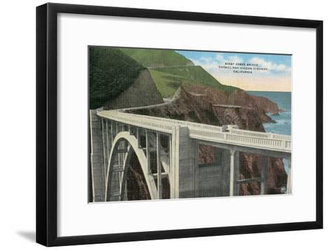 Bixby Creek Bridge, San Simeon Highway, California--Framed Art Print
