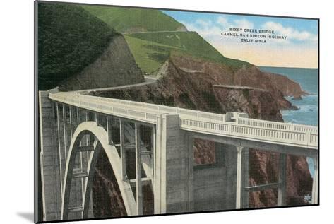 Bixby Creek Bridge, San Simeon Highway, California--Mounted Art Print