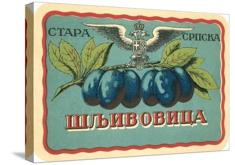 Label for Russian Grape Product--Stretched Canvas Print