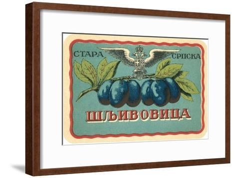 Label for Russian Grape Product--Framed Art Print