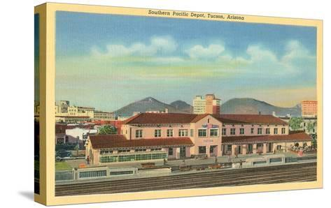 Southern Pacific Depot, Tucson, Arizona--Stretched Canvas Print