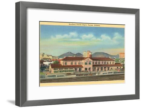 Southern Pacific Depot, Tucson, Arizona--Framed Art Print