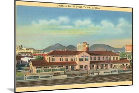 Southern Pacific Depot, Tucson, Arizona--Mounted Art Print
