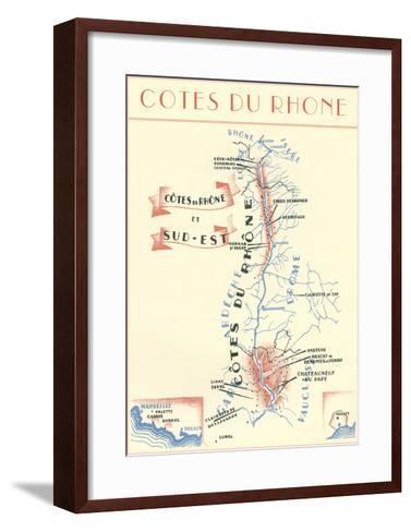 Cotes Du Rhone Wine Country--Framed Art Print