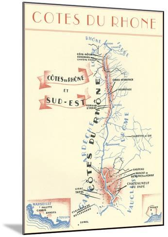 Cotes Du Rhone Wine Country--Mounted Art Print