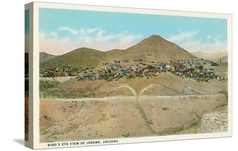 Bird's Eye View of Jerome, Arizona--Stretched Canvas Print