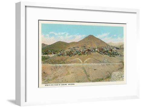 Bird's Eye View of Jerome, Arizona--Framed Art Print