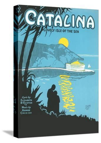 Sheet Music for Catalina--Stretched Canvas Print