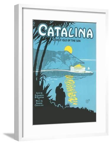 Sheet Music for Catalina--Framed Art Print