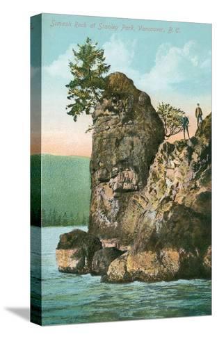 Simash Rock, Stanley Park, British Columbia--Stretched Canvas Print